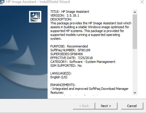 Using HP Image Assistant to upgrade HP Z230 workstation